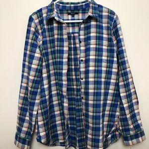 Madewell Heavy Flannel Slim Boyshirt
